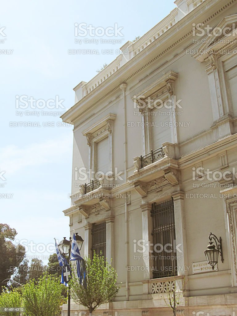 Athens neoclassical buildings stock photo