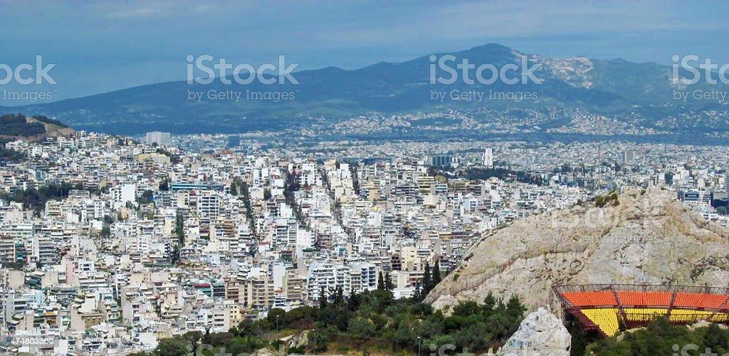 Athens panorama stock photo