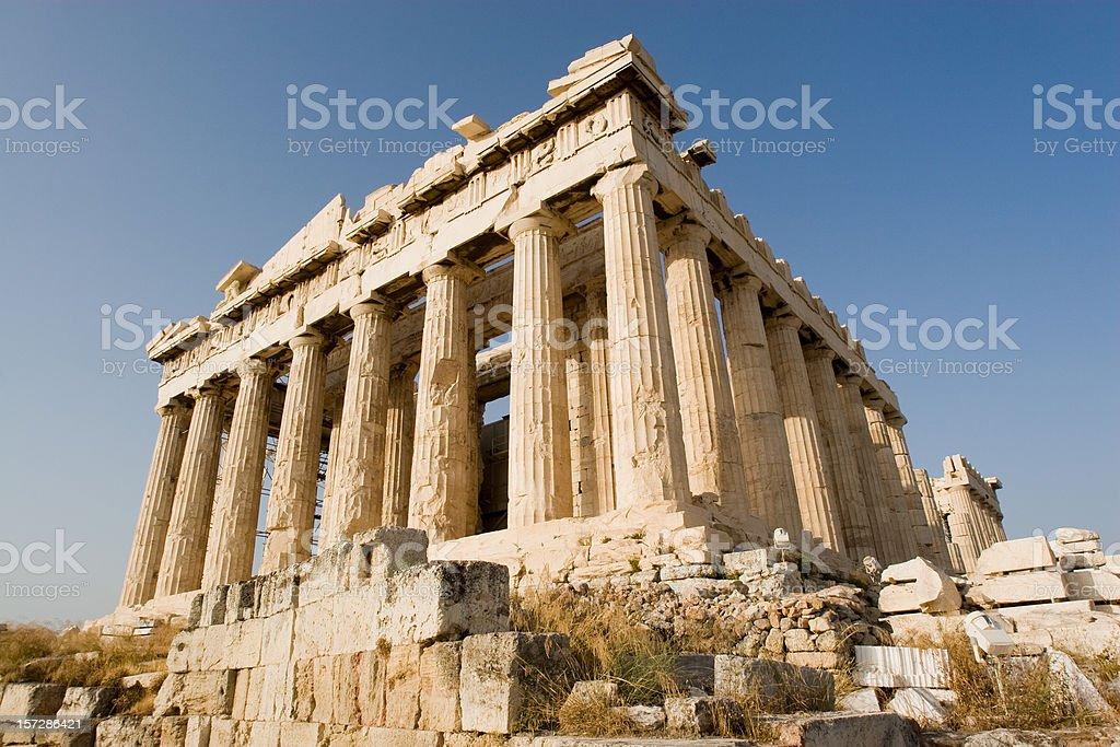 Athens, Parthenon at Acropolis royalty-free stock photo