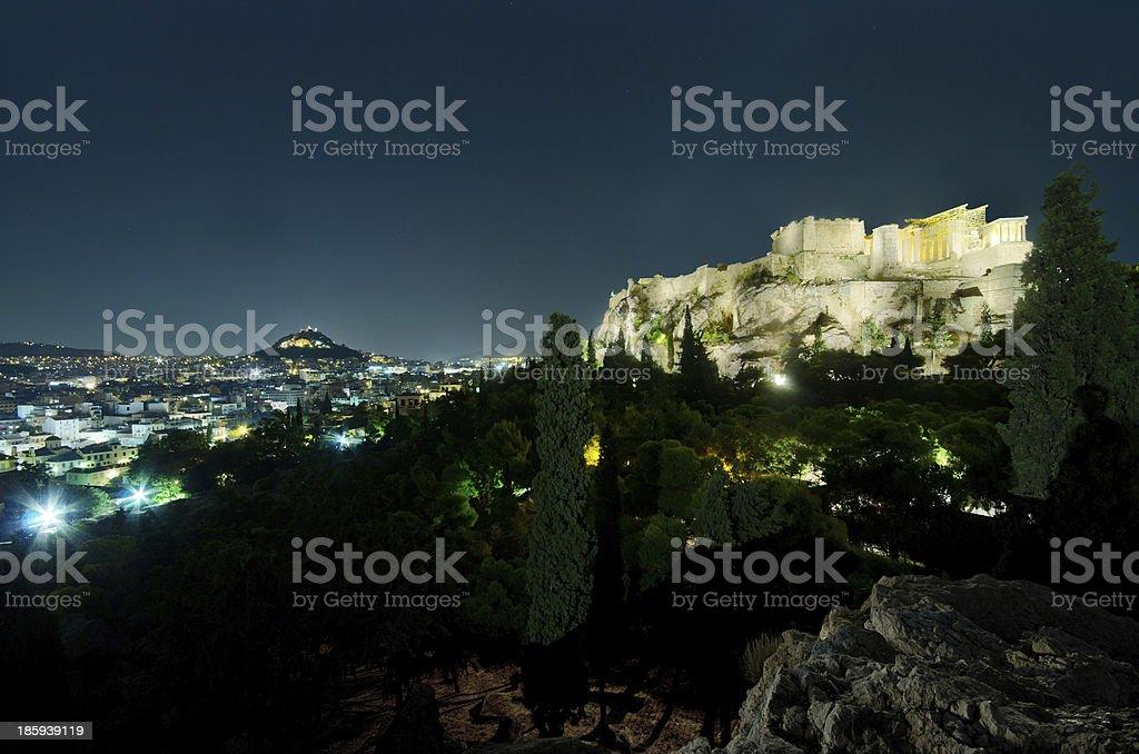 Athens' skyline. royalty-free stock photo