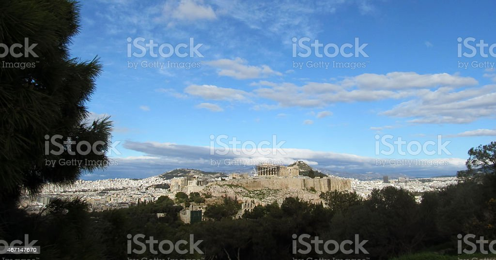 Athens skyline stock photo