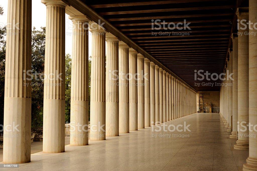 Athens Stoa ancient market stock photo