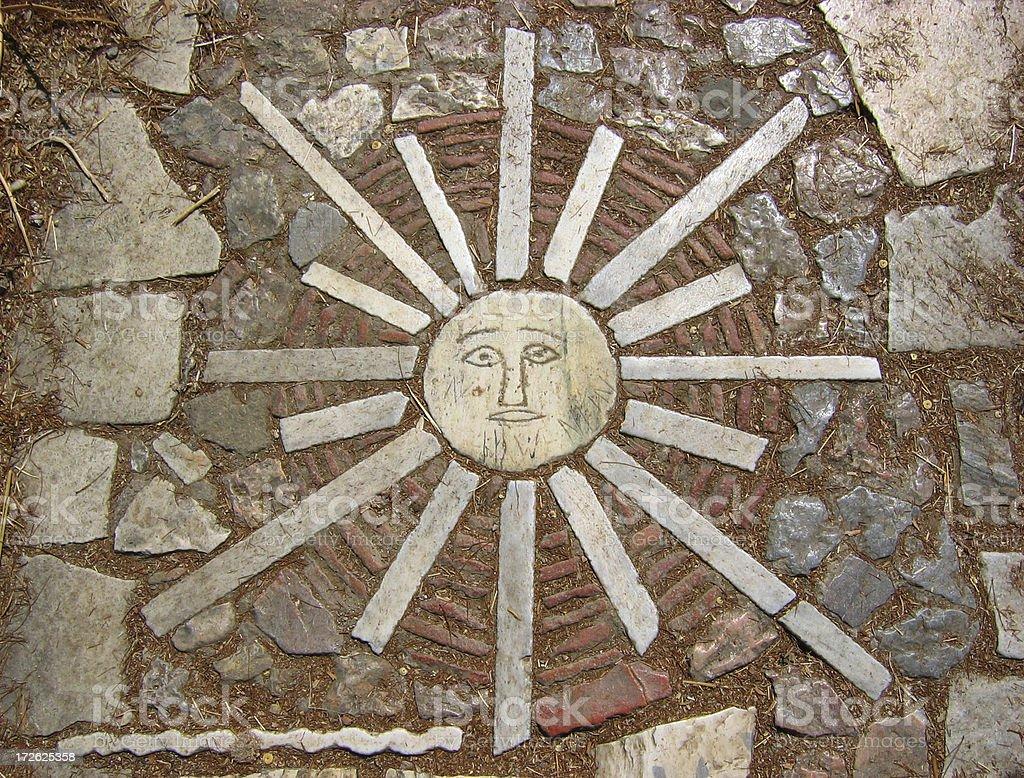 Athens Stone Sunrise stock photo