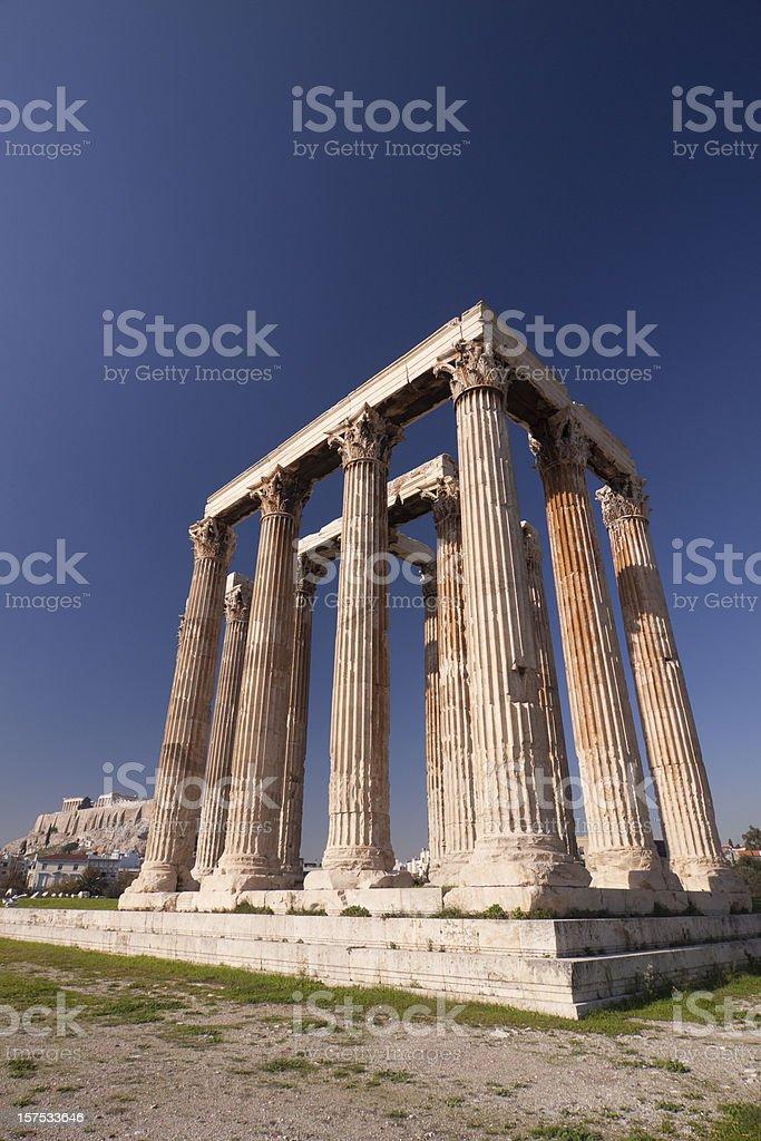 Athens Temple of Olympian Zeus royalty-free stock photo