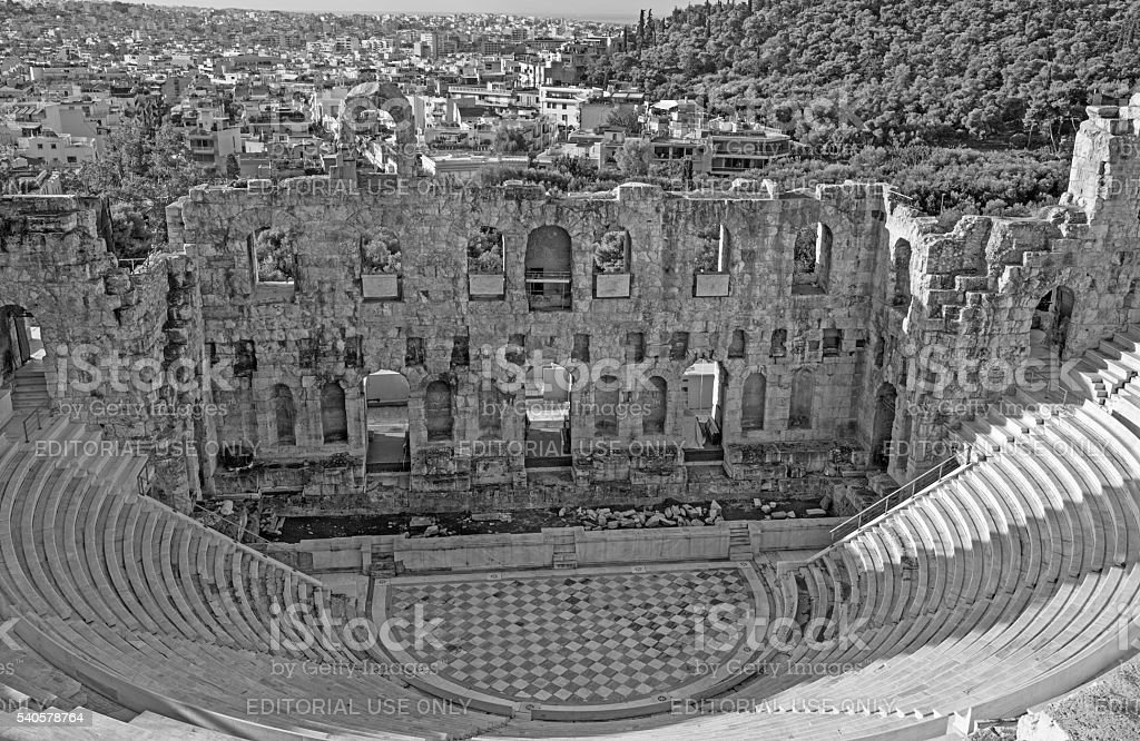 Athens - The Odeon of Herodes Atticus stock photo