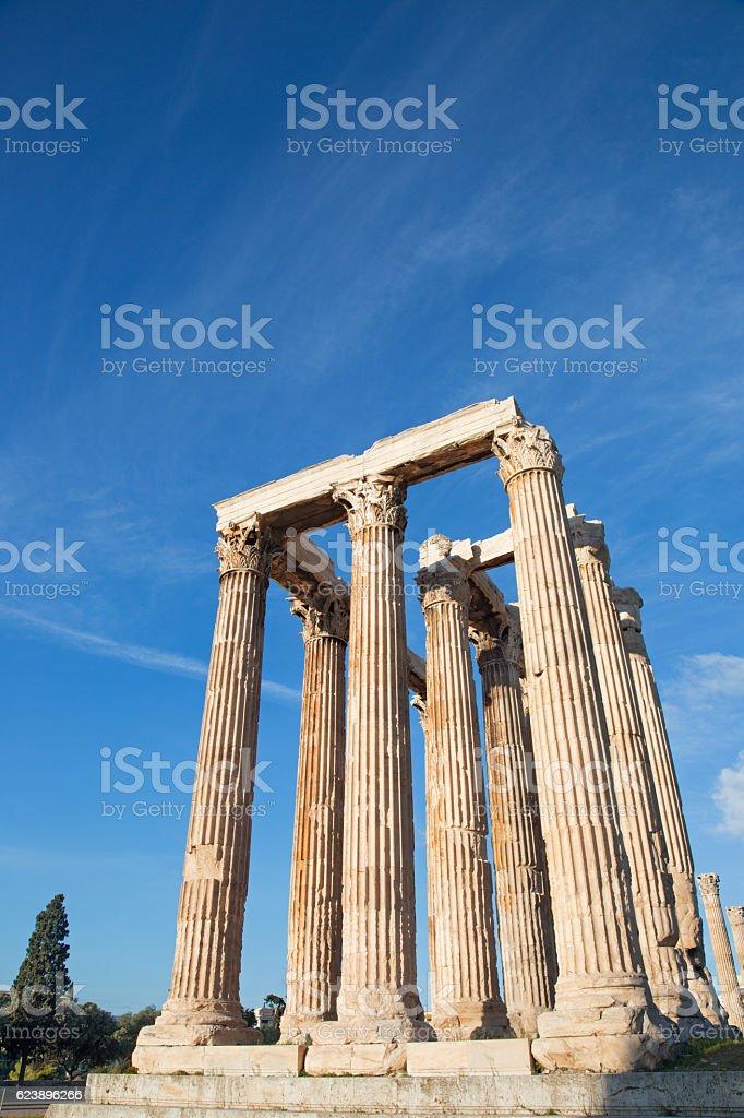 Athens - The Olympieion (Temple of Zeus) stock photo