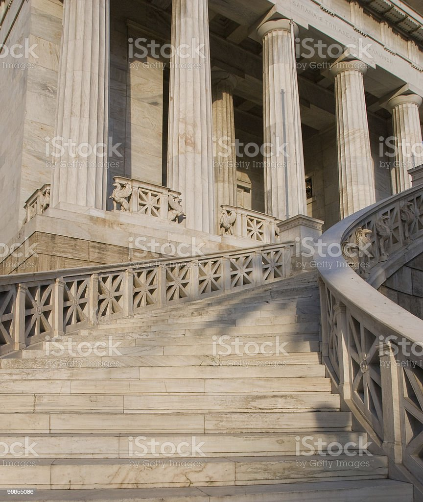 Athens university  building Entrance royalty-free stock photo