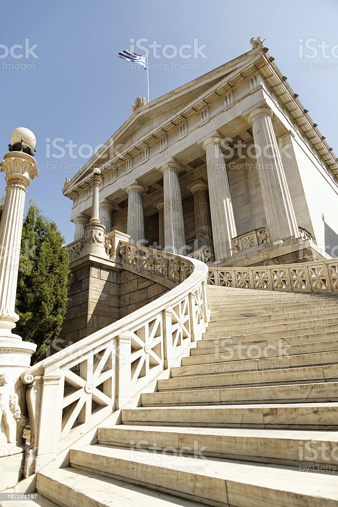 Athens University royalty-free stock photo