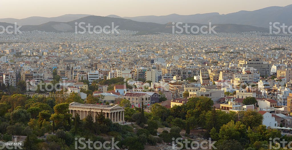 Athens view royalty-free stock photo