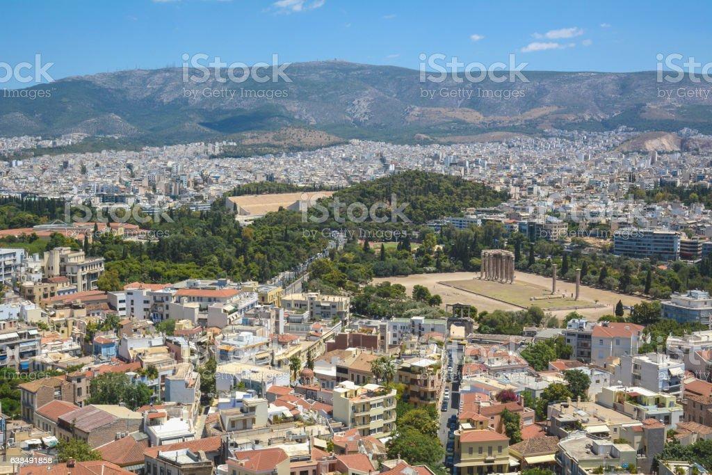 Athens View stock photo