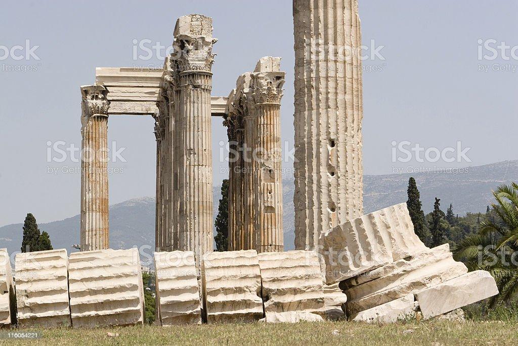 Athens,Temple of Zeus royalty-free stock photo
