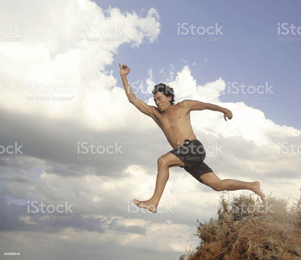Athlet jumping royalty-free stock photo
