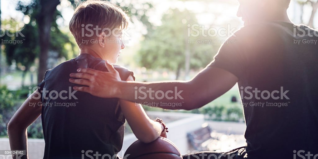 Athlete Basketball Player Coaching Team Concept stock photo