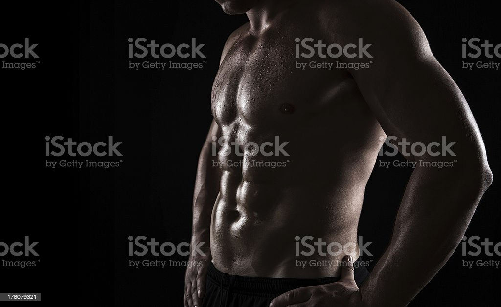 Athlete close up royalty-free stock photo