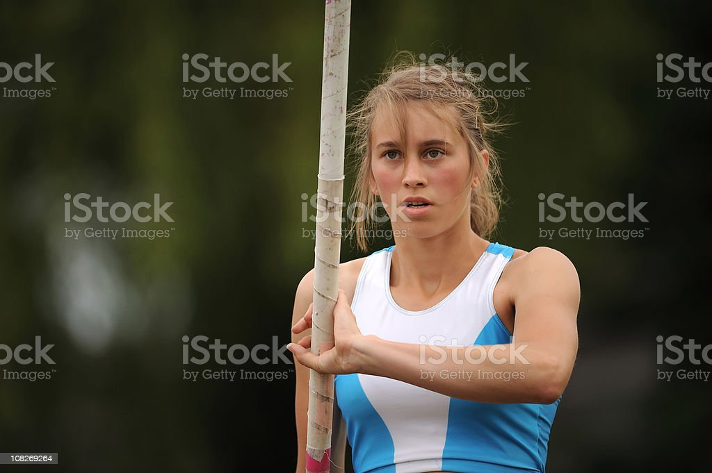 Athlete concentrating royalty-free stock photo