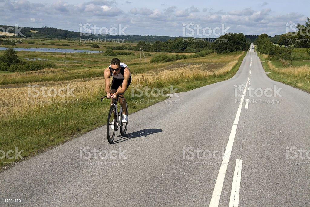 Athlete cyclist royalty-free stock photo