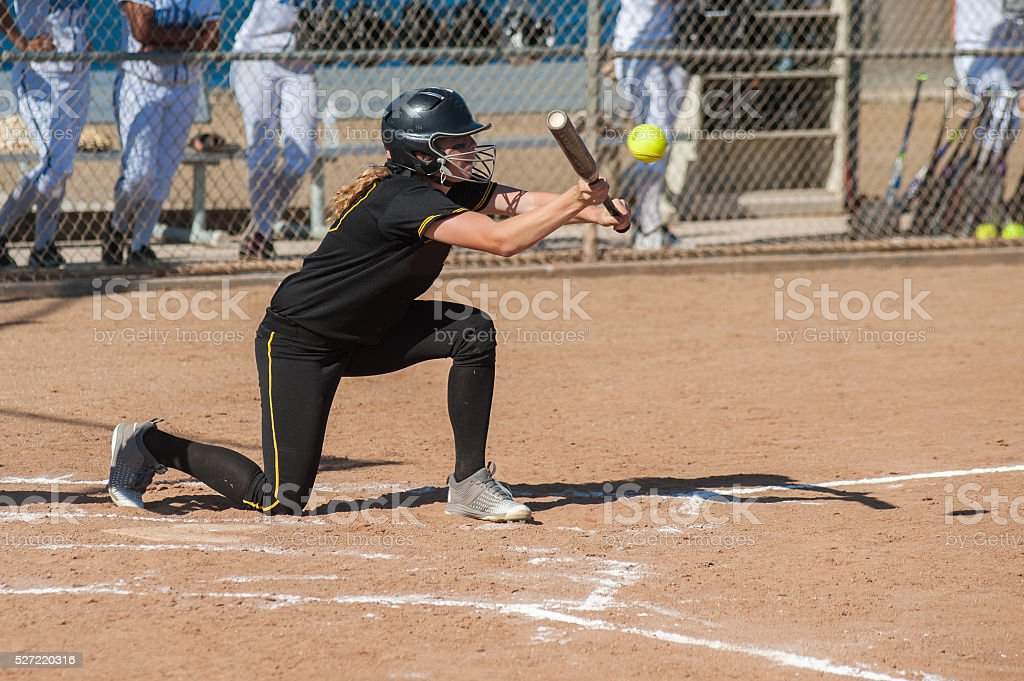 Athlete focused on contact point stock photo
