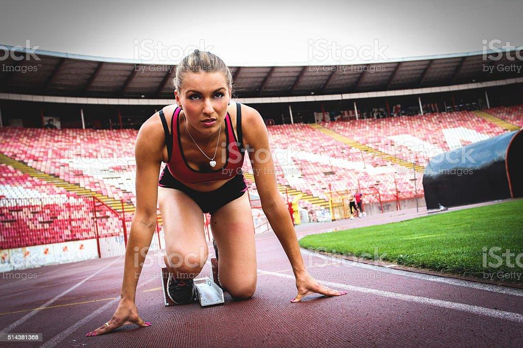 Athlete Girl 2 stock photo