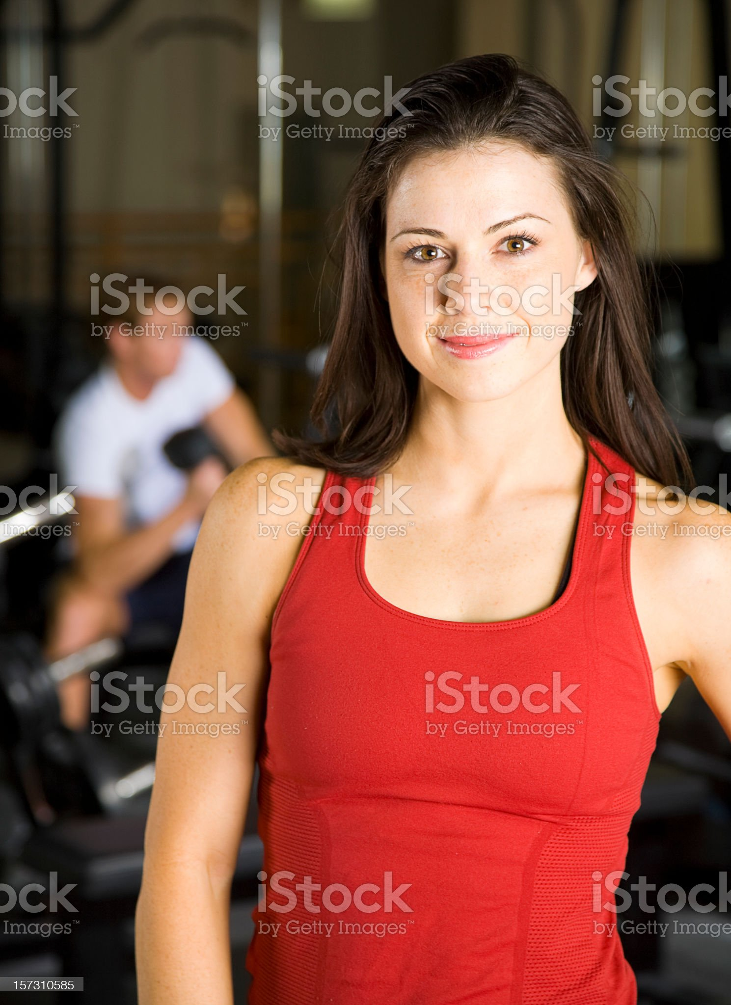 Athlete in a Health Club Gym royalty-free stock photo