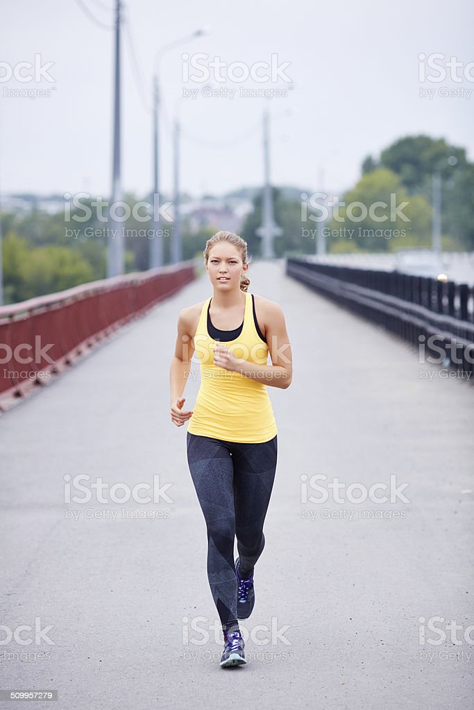 Athlete in motion stock photo