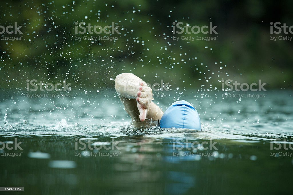 Athlete in open water royalty-free stock photo