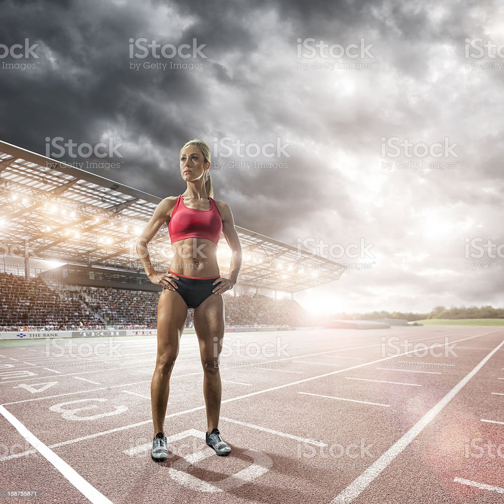 Athlete Prepares to Race royalty-free stock photo
