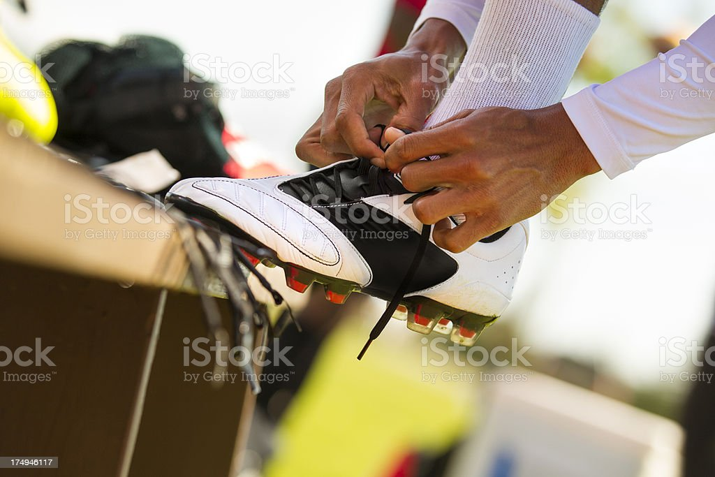 Athlete preparing for the game royalty-free stock photo