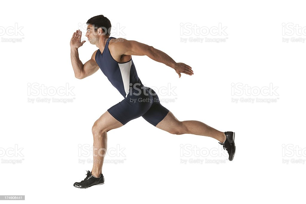 Athlete running royalty-free stock photo