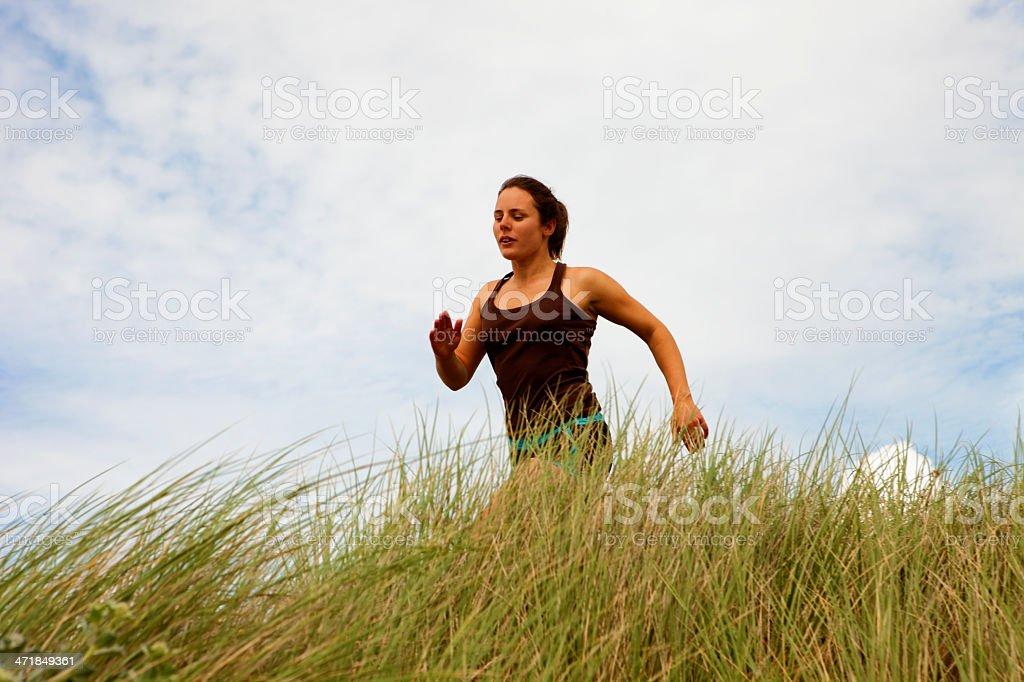 Athlete running royalty-free stock photo
