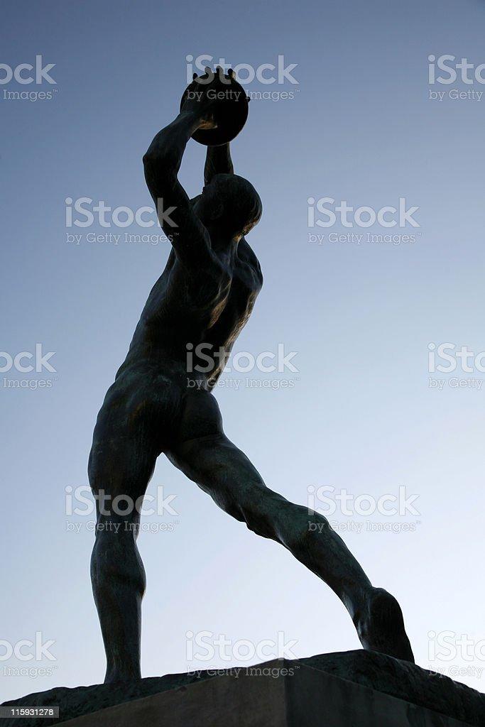 Athlete silhouette stock photo
