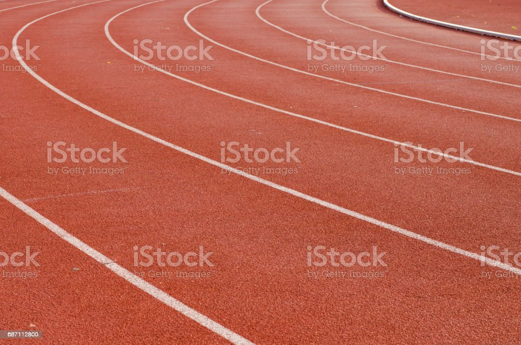 Athlete Track or Running Track with nice scenic stock photo