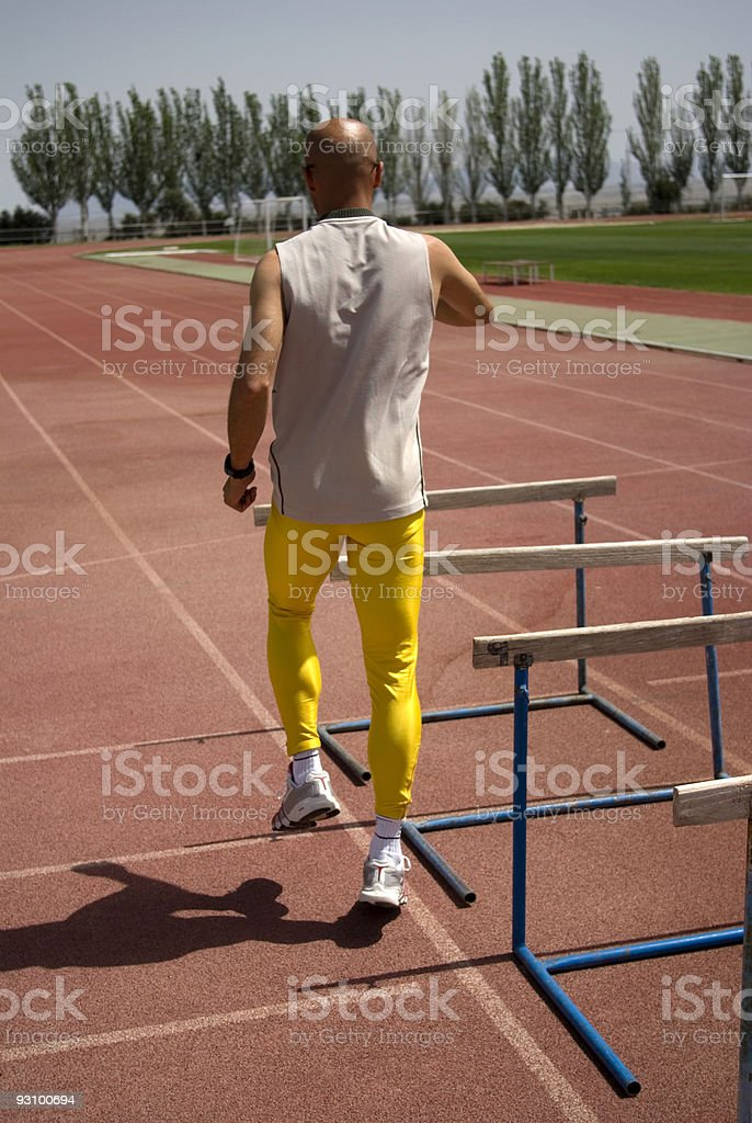 Athlete training. royalty-free stock photo