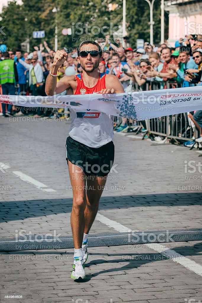 선수) 이 마라톤 royalty-free 스톡 사진