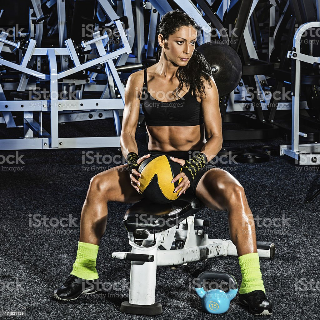 Athlete with sports equipment royalty-free stock photo