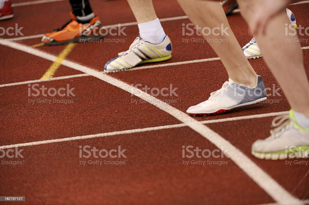 Athletes ready for race start royalty-free stock photo