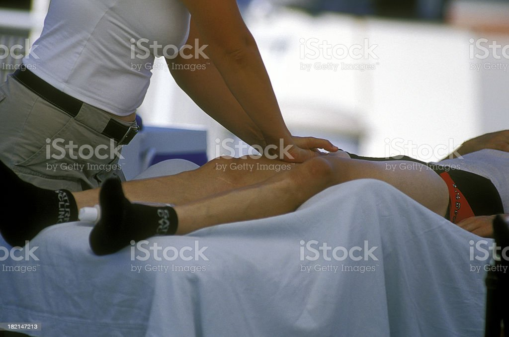 Athlete's retreat royalty-free stock photo