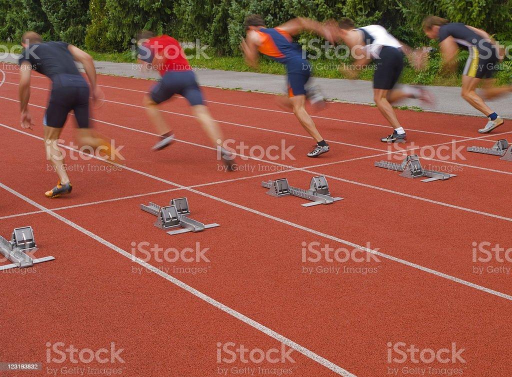 Athletes starting stock photo