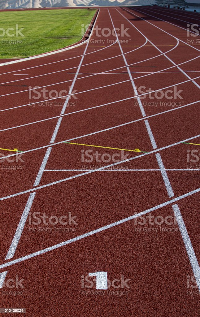 Athlethic track stock photo