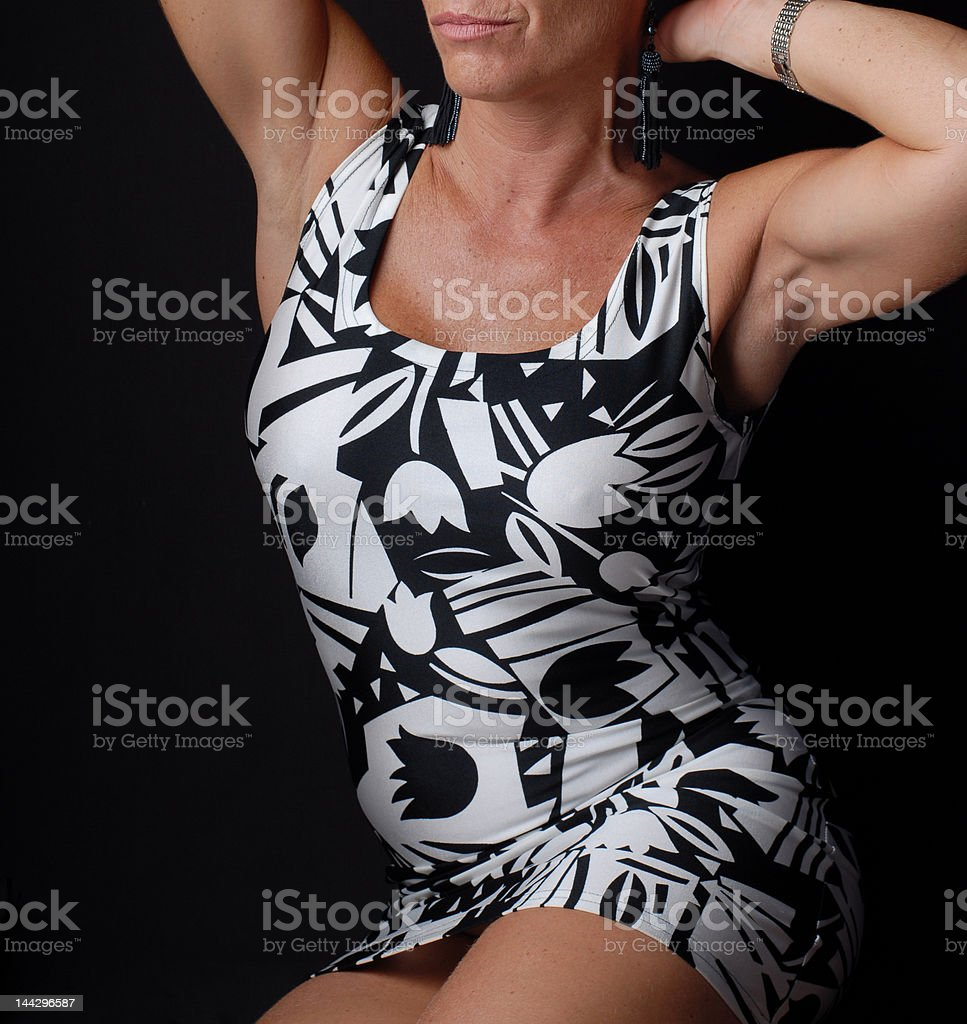 Athletic body (non-smiling version) royalty-free stock photo