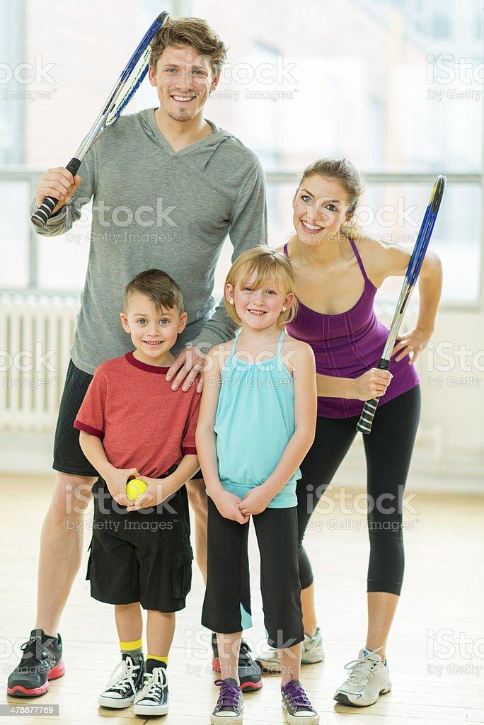 Athletic Family royalty-free stock photo
