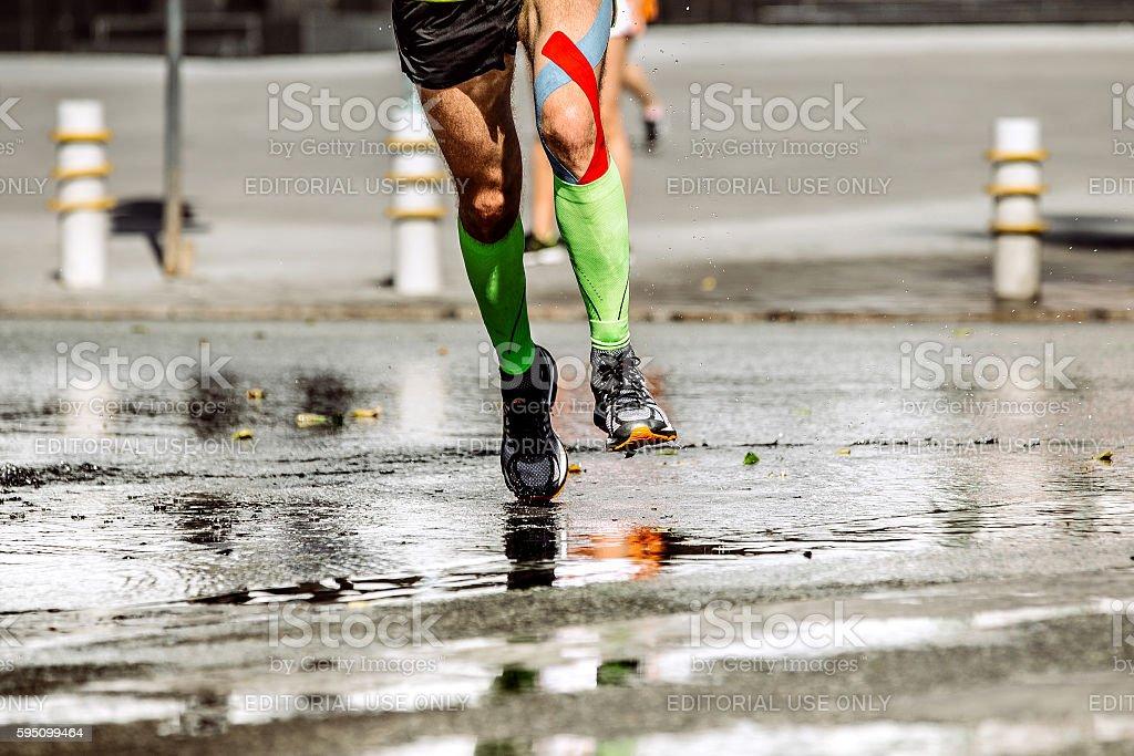 athletic feet men runner's royalty-free 스톡 사진