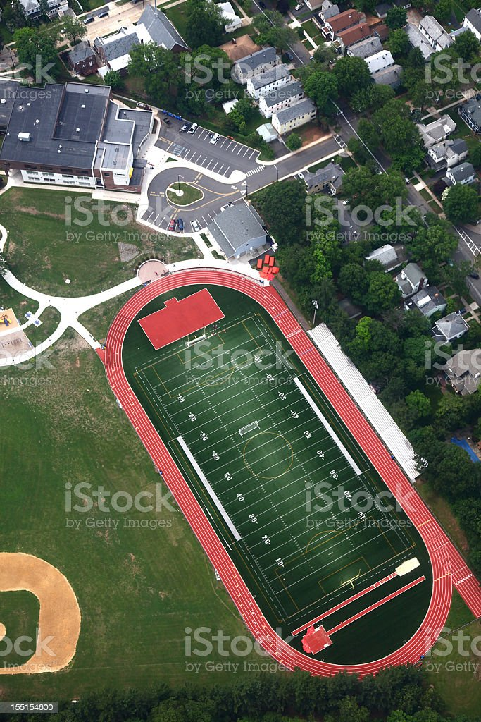 Athletic Field Aerial royalty-free stock photo