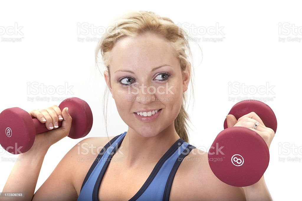 Athletic fitness instructor royalty-free stock photo