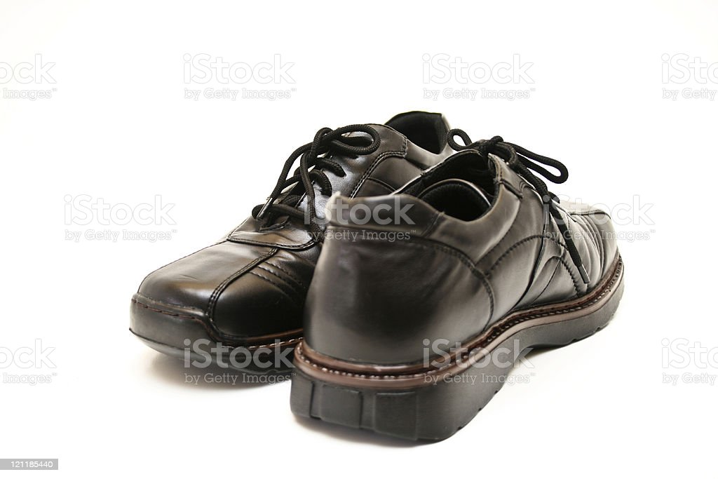 Athletic gentleman shoes stock photo