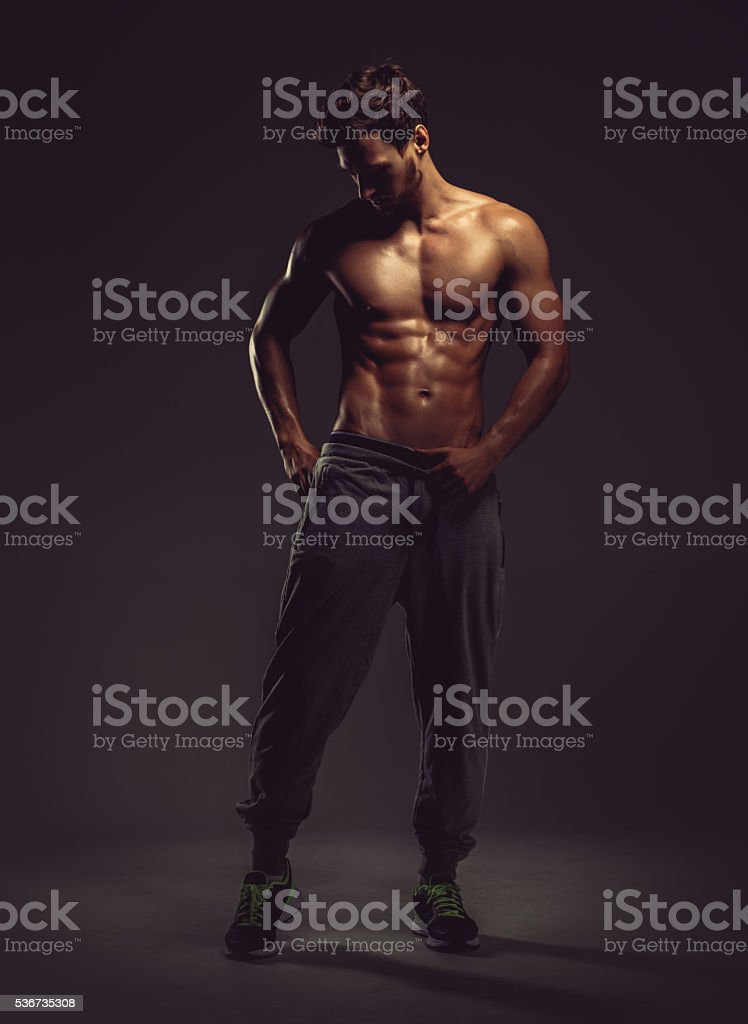 Athletic handsome man stock photo