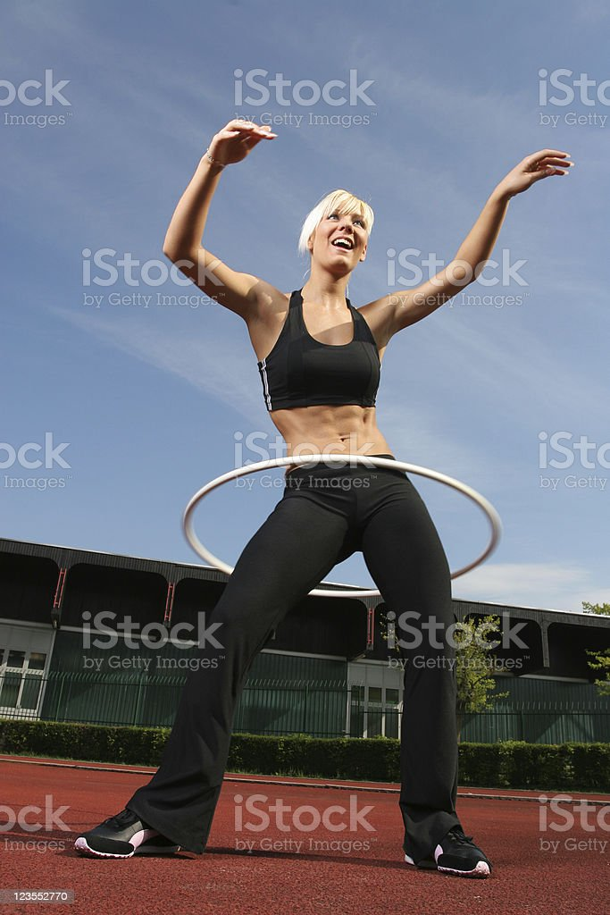 Athletic hula hoop royalty-free stock photo