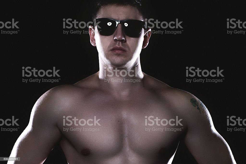 athletic male model royalty-free stock photo