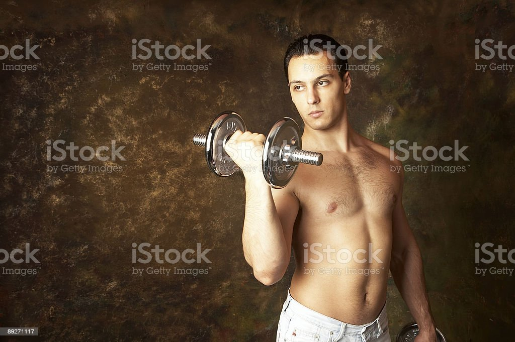 Athletic male stock photo
