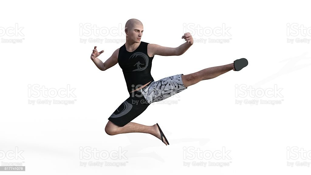 athletic martial artist stock photo