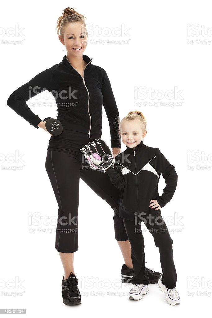 Athletic Mother and Daughter royalty-free stock photo